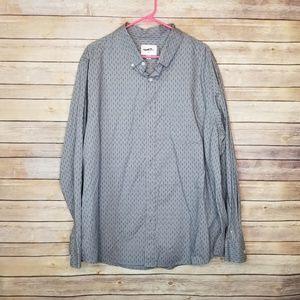 NWOT Men' 2XB long sleeve casual button down shirt